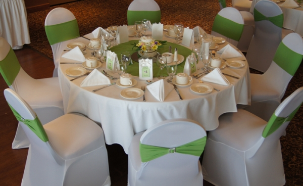 Table with Chair Covers