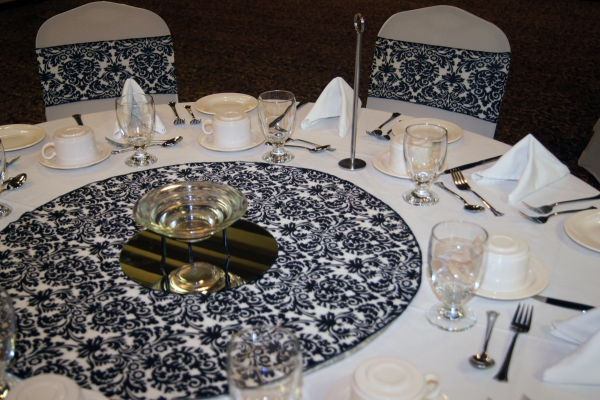 Damask Table Close Up