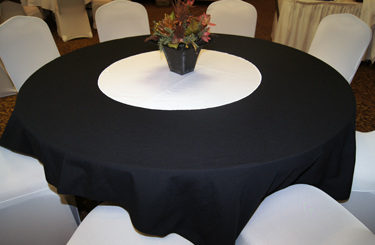 White Table Circle Close-Up
